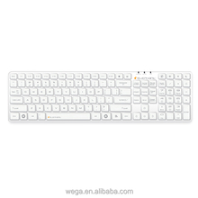 china factory qwerty azerty white black full standard silicon cover waterproof PC computer wireless keyboard