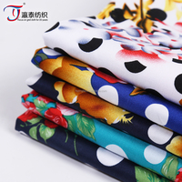 new pattern printed cotton stretch twill wholesale spandex fabric
