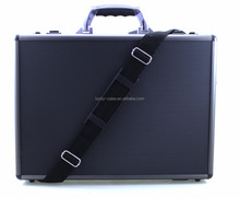 Black Hard Aluminium Briefcase Executive Laptop Bag Travel Flight Pilot Carry Case