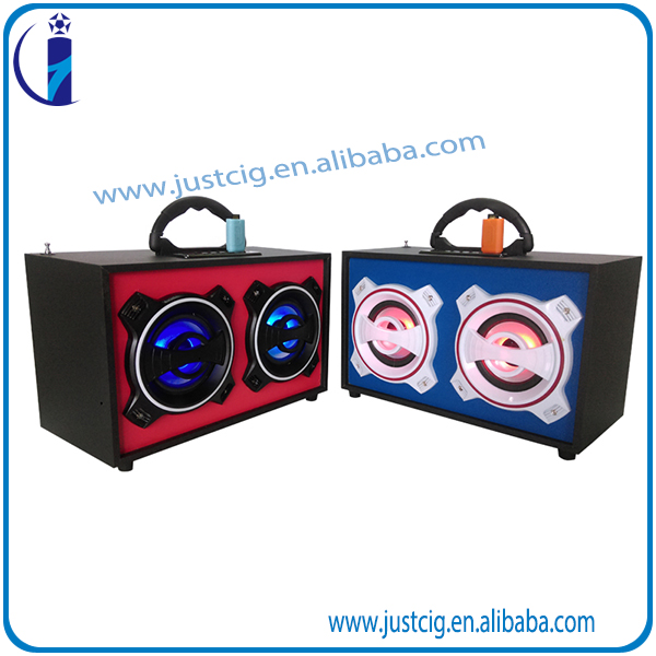 UK-46 factory Indoor and Ourdoor use Wood wireless Speaker Cabinets Natural wooden stereo Bluetooth speaker CE, FCC