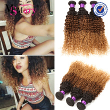 Wholesale 7A Grade Peruvian 100% Real Natural Honey Blonde Curly Weave Hair