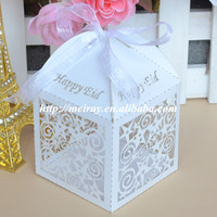 Unique laser cut islamic wedding favors,party supply wedding favors and gifts box with free name logo