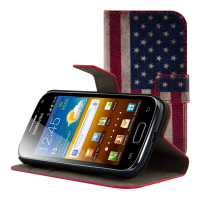 Chic USA flag leather case for the Samsung Galaxy Ace 2 i8160