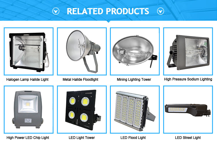 Metal halide Lamp, MH lamp fittings, Halogen floodlight 1000w 1500w 2000w