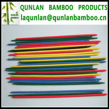 Color bamboo stick