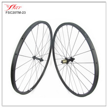23mm width 20mm deep tubular roue carbone chine oem with ED hub Sapim spokes 2024H UD matte only 995g/set