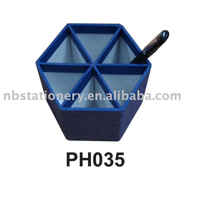 Polygon shaped Pen Container Box