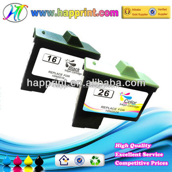 Refillable Ink Cartridges for Lexmark Ink Cartridge 16 26 10N0016 10N0026 for Lexmark 17 27 10N0017 10N0027 for Dell T0529 T0530