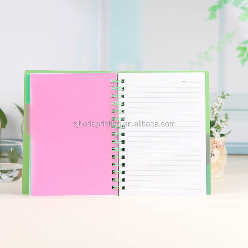 PP Hollow Cover Notebook/ Wholesale A6 A5 A4 Spiral Notebook Office School Suppliers