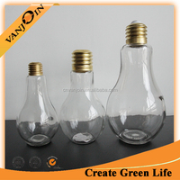 Gift Light Bulb Glass Bottle Container with Screw Lid Terrarium Decorative Jar Vase