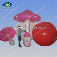 Colorful inflatable pvc mushroom