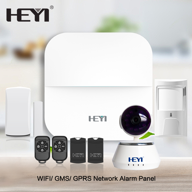 Home/ Smoke/ Fire/ Door/ Window Usage house gsm alarm wirless wifi security alarm system