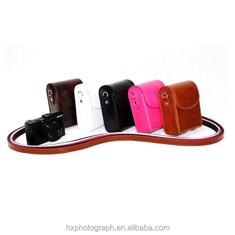 High Quality PU Leather Camera Case for Sony RX100 M3 RX100III