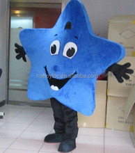HI CE funny blue star mascot costumes for adult,star mascot cartoon for activities