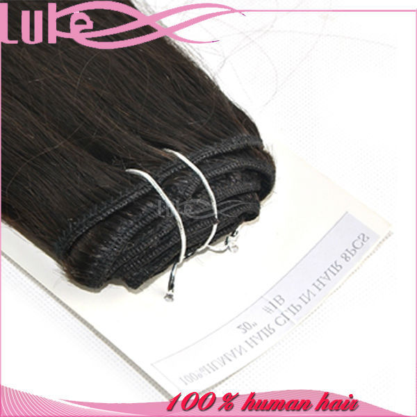 Good Quality Grade 7A Virgin Human Weave Brazilian Hair Clip On Hair Extensions