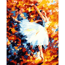 Sex Ballet Girl Dancing diy canvas painting Oil Painting