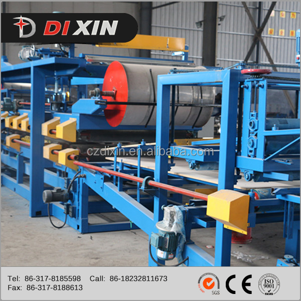 DIXIN rockwool and eps sandwich panels cold making machine for building construction