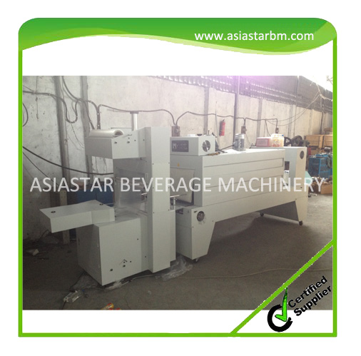 Semi-auto PE film plastic bottle Heat Shrink wrapping Machine