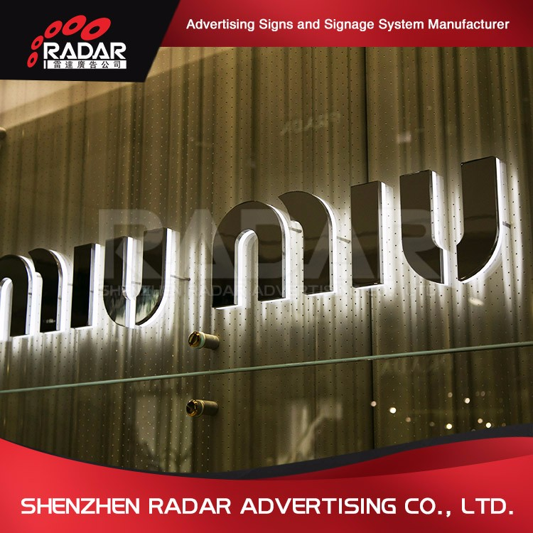 China supplier back lighting windproof led acrylic channel letter for office