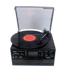 2016 modern gramophone turntable player with am/fm radio turntable record player