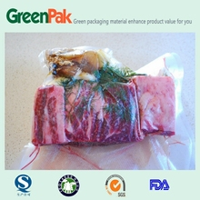 Nylon/PE Co-ex food 2/3 side seal safe vacuum bags for pre-product food