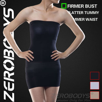 ZEROBODYS Incredible Womens Body Shaper Slimming Tube Dress 005 BK Tummy Control Underwear Weight Loss Body Wrap Bodysuit