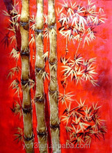 modern art bamboo painting Custom Handmade Modern Abstract Oil painting