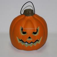 Wholesale Cute Pumpkin Led Light Halloween Costoms Plastic Hanging LED Lights Pumpkin Outdoor Decoration