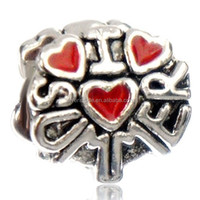 New silver New silver beads I Love Hot Summer Heart I Love Hot Summer Heart Fit All Brands Silver Plated Beads Charms Bracelets