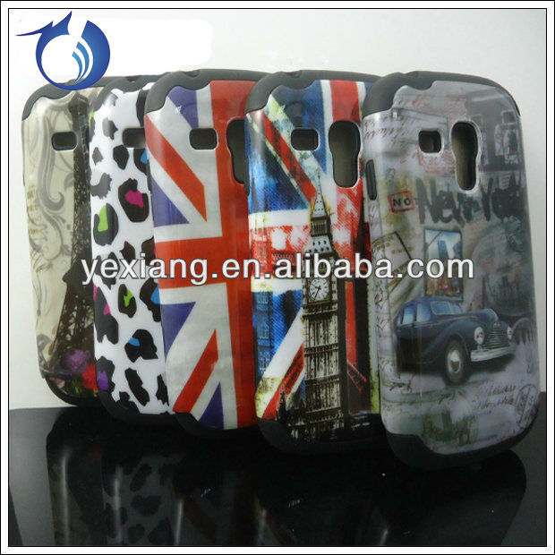 New arrival waterproof case for samsung galaxy s3 mini i8190 combo case