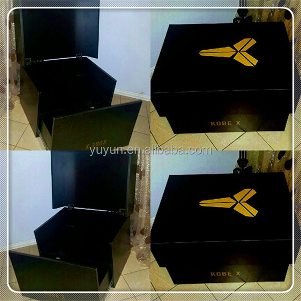 Kobe X Large Sneaker Shoe Box Storage Custom Made Wood Furniture
