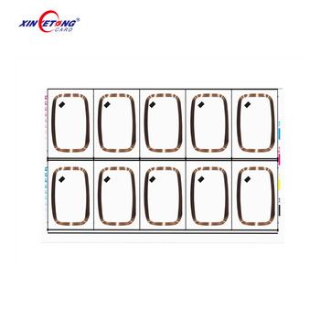 Best price LF+UHF 860-960mhz LF Layout 5*5 4*6 PVC Rfid Card Inlay Sheet