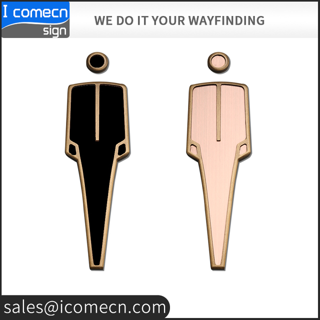 Fast Delivery Wholesale Men & Women bathroom WC toilet sign for hotel shopping mall
