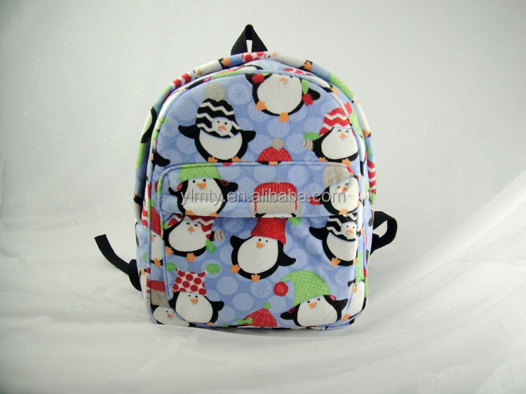 qualitified fashionable good design cartoon Penguin animal school bags