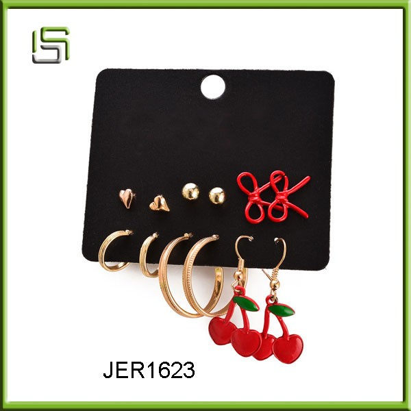Simple design top fashion jewelry women earrings in stock