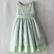 children girl dress baby girl princess puffy dress with bowknot