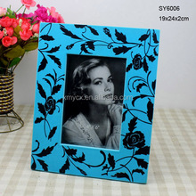 Recycled MDF multi colored photo frame
