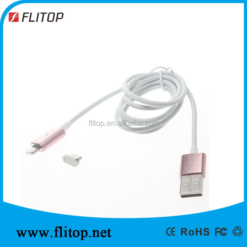 reversible micro usb magnetic cable connector for mobile phone