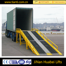 Customized adjustable mobile hydraulic container dock loading ramp for sale