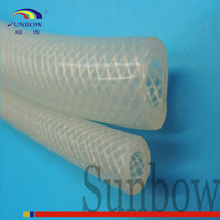 Silicone Reinforced Braided Fiberglass Sleeve For