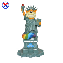 Wholesale bule cartoon figure custom craft resin statue of liberty for home decoration