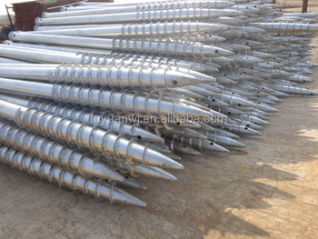 Metal ground screw piles( professional manufacturer )