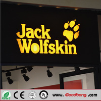 2017 top quality 3d light box letter sign for advertising