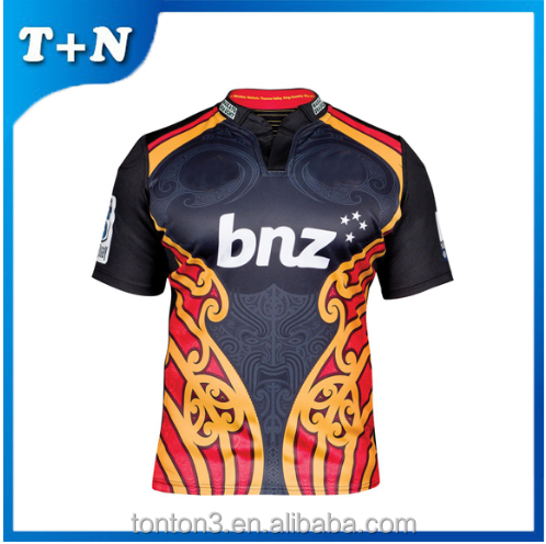 black color tight fit rugby jersey,rugby league jersey