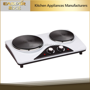 High quality hotplate Electric double Stove 2 burners 2500W GS CE CB