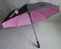 Hot sale strong fiberglass frame auto open 30inch golf umbrella windproof double layer
