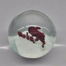 2017 most popular Resin Christmas Custom Snow Globe Water Globe With Wood Base Crystal Snow Globe Water Ball