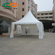 small white high peak canopy pagoda tent for sale