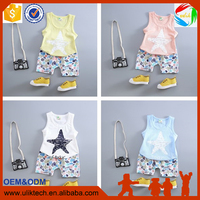 Foshan factory supply lowest price hot selling in usa wholesale children's boutique clothing boys short set for summer