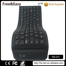 Waterproof foldable mini silicone wireless bluetooth keyboard